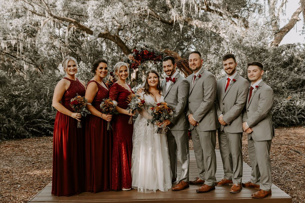 woodsy autumn wedding