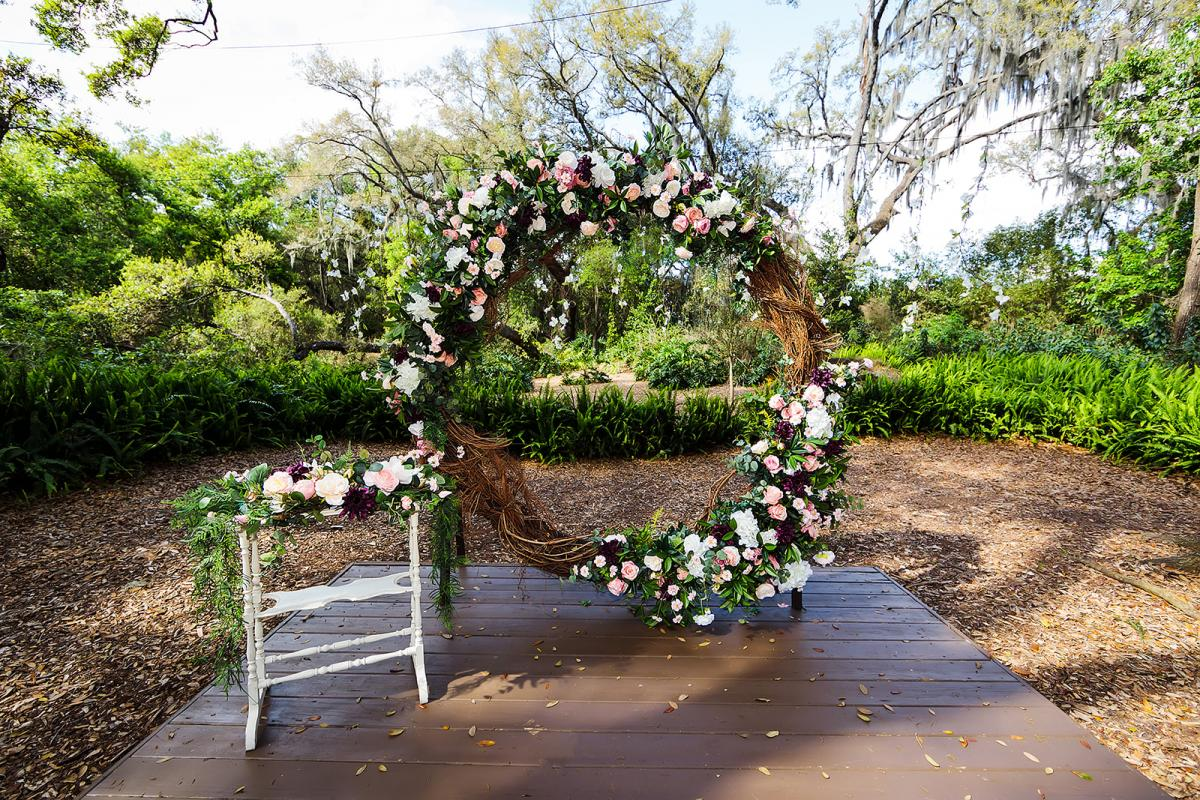 Whimsical and enchanting ceremony decor
