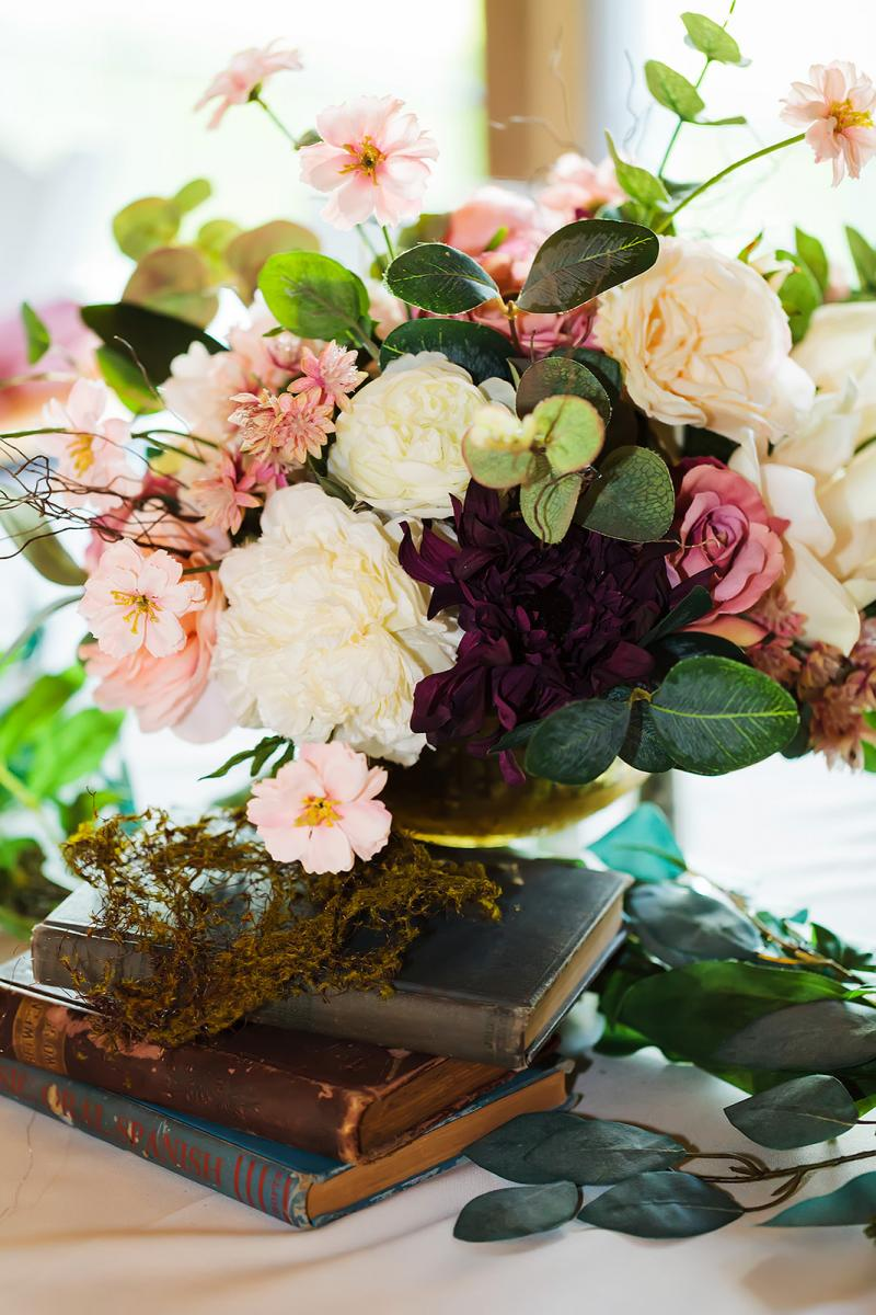 Whimsical and enchanting wedding centerpiece