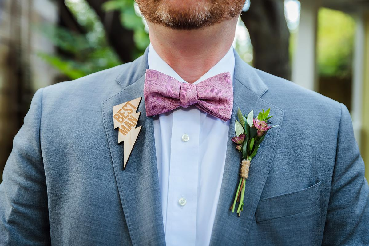 Best man pin
