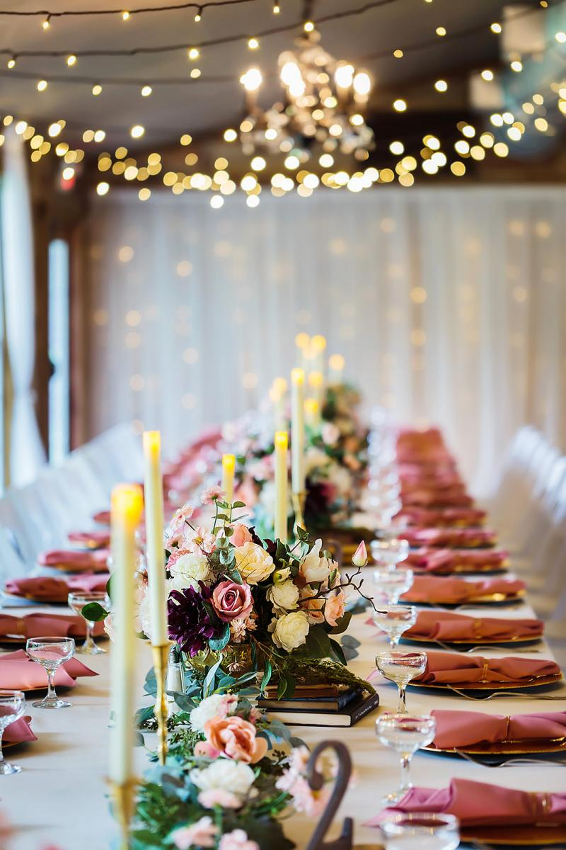 Whimsical and enchanting wedding table