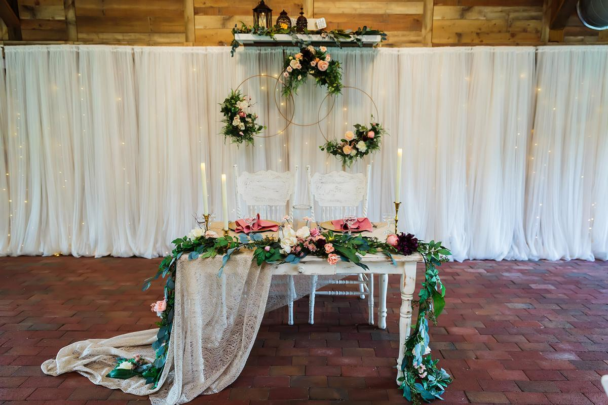 Andreina + John's whimsical and enchanting sweetheart table