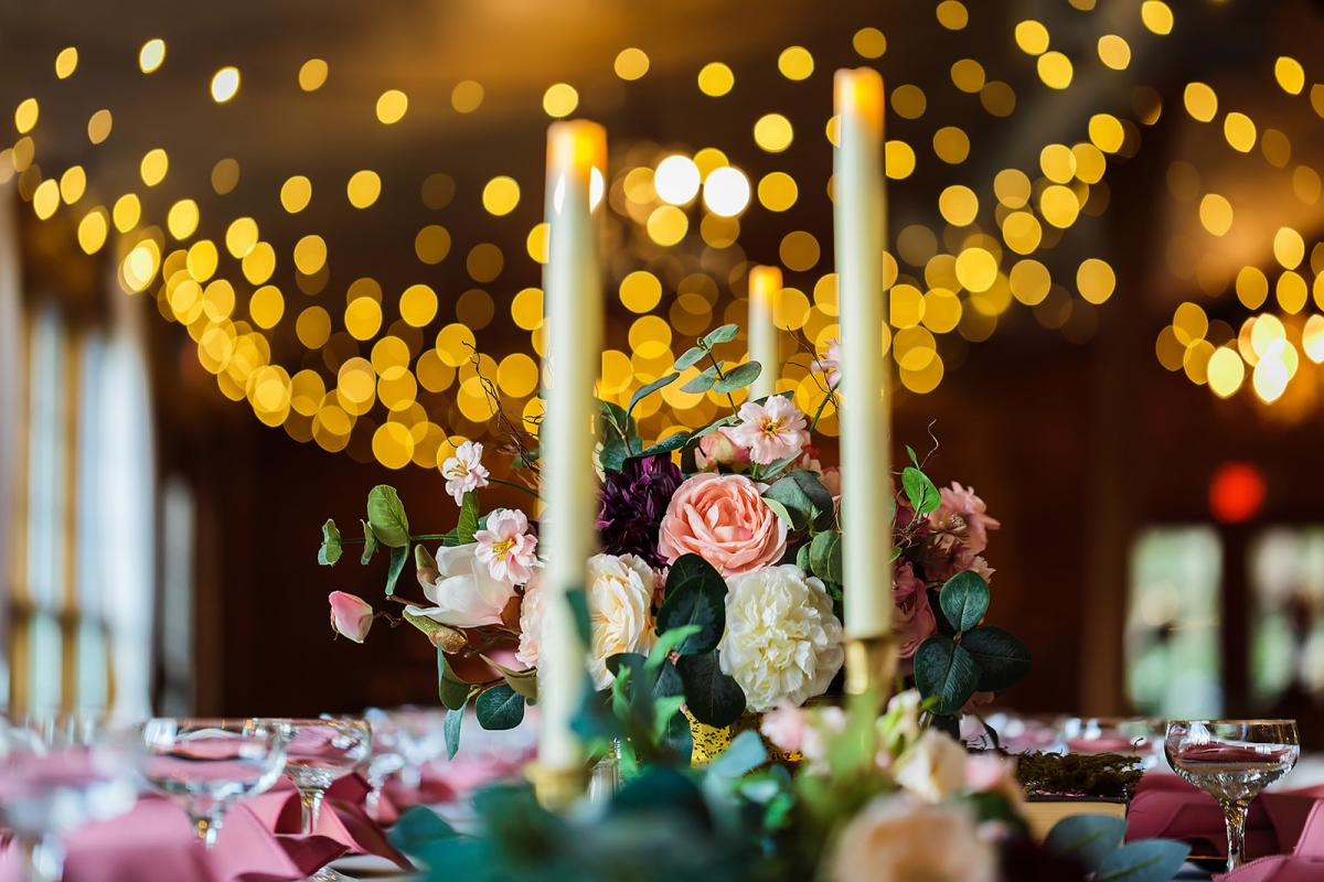 Whimsical and enchanting wedding centerpieces