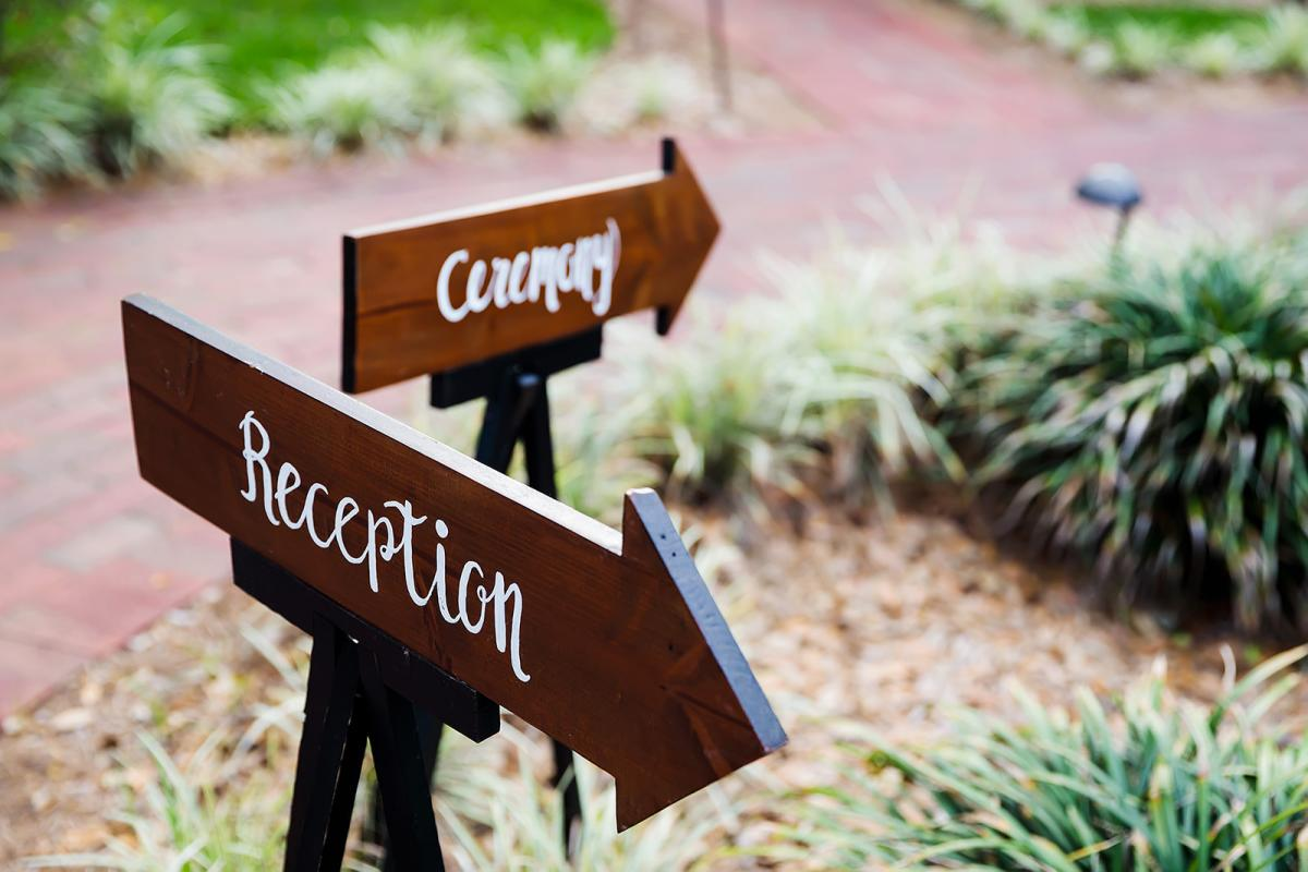 Ceremony and Reception signs