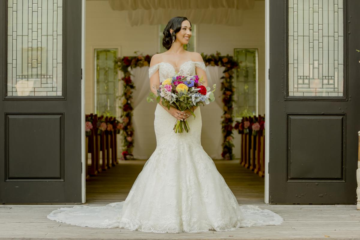 Alexa in her Kleinfeld bridal gown