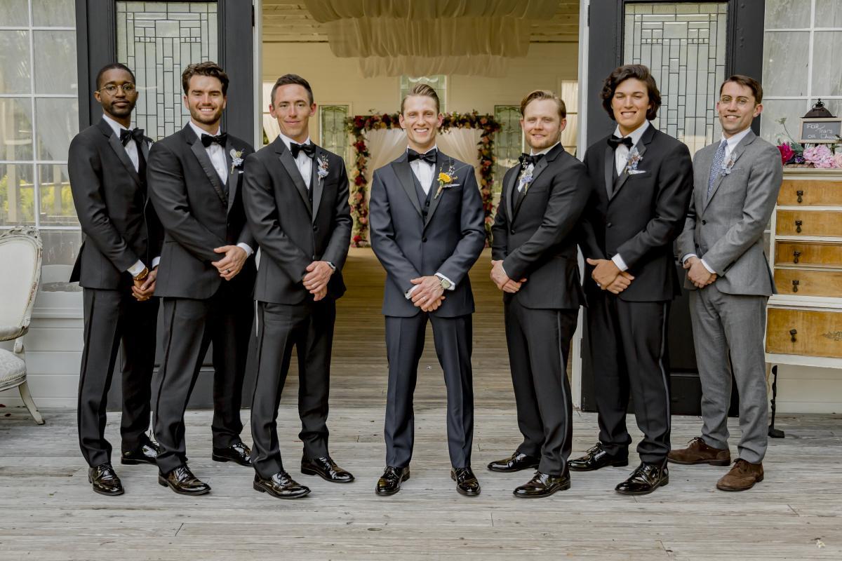 Steven and his groomsmen