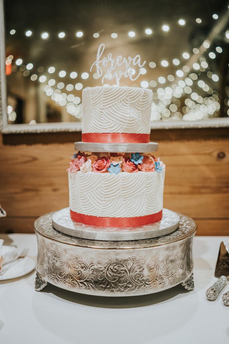 Sean & Emily's wedding cake