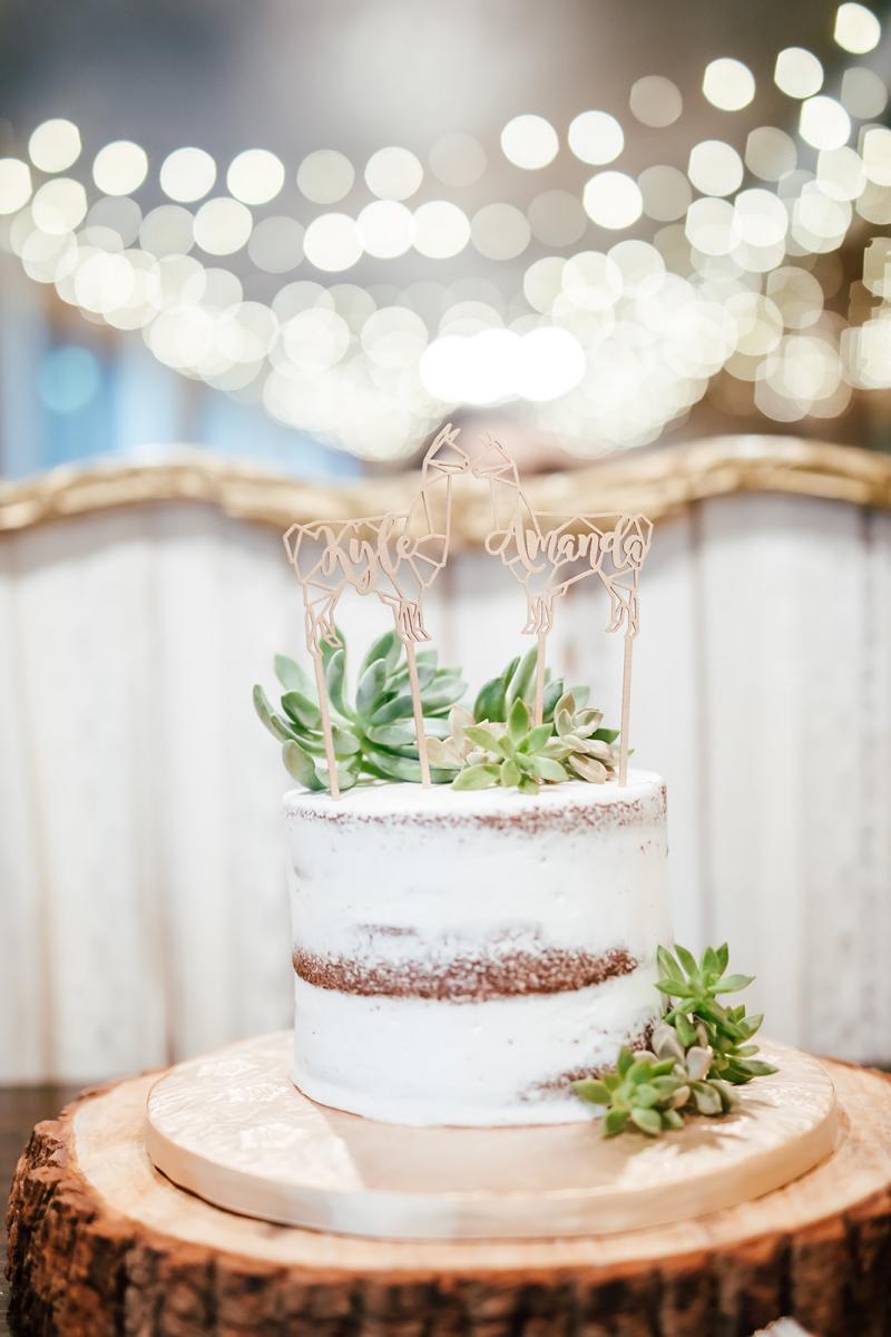 Alpaca wedding cake toppper