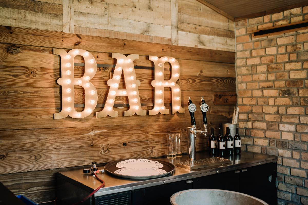 The bar at the Carriage House Stable