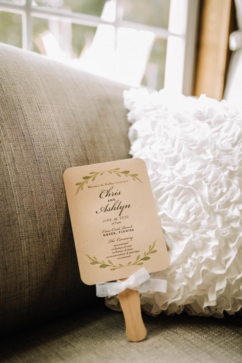 neutral rustic wedding programs