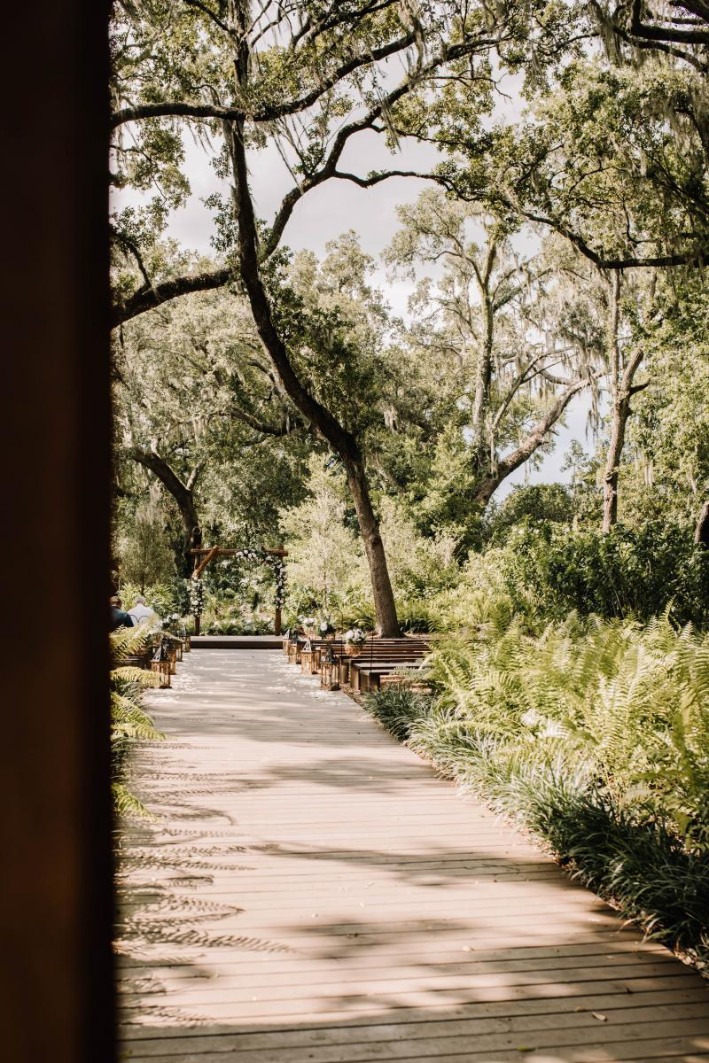 Ashlyn + Chris's wedding ceremony at the Enchanted Forest