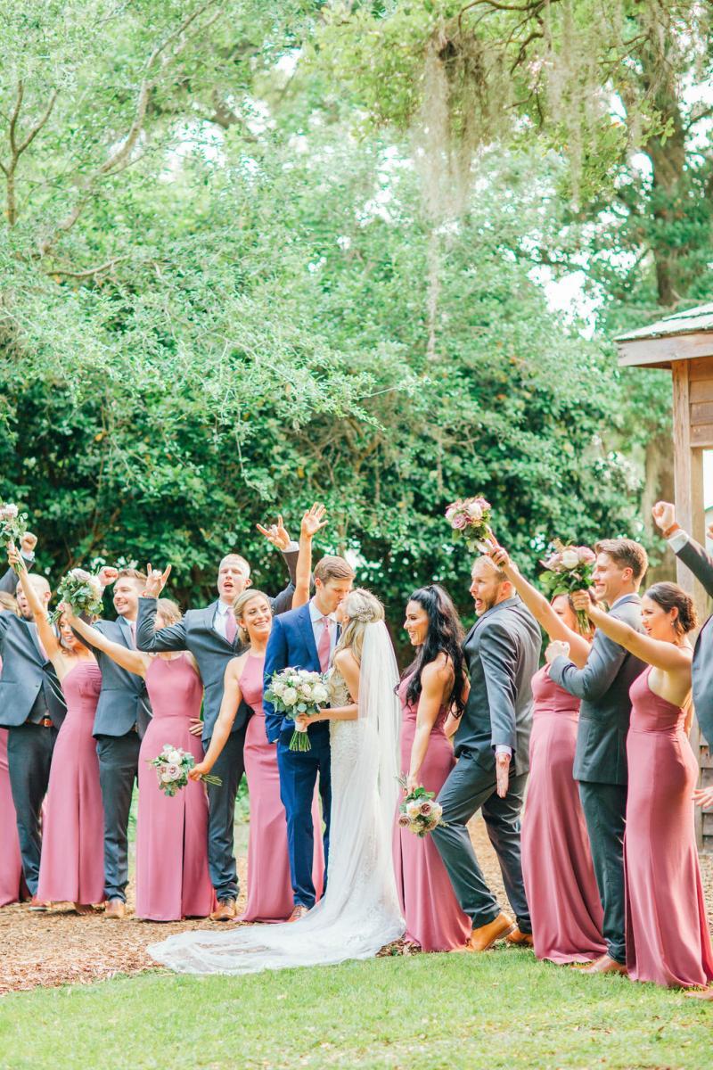 Sinnikka and Steve's wedding party