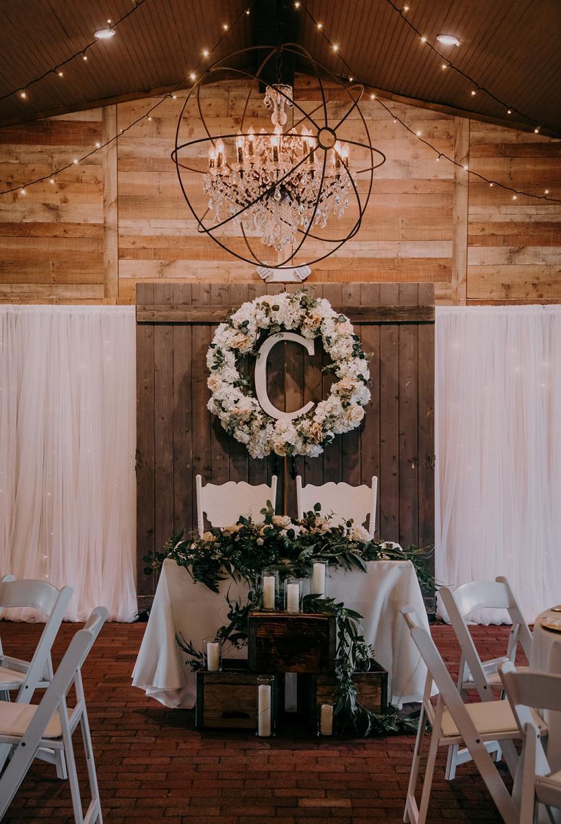 Rustic romantic wedding reception ideas