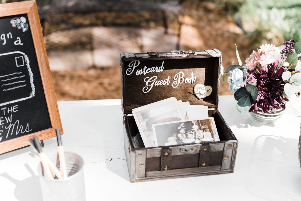 Postcard wedding guest book