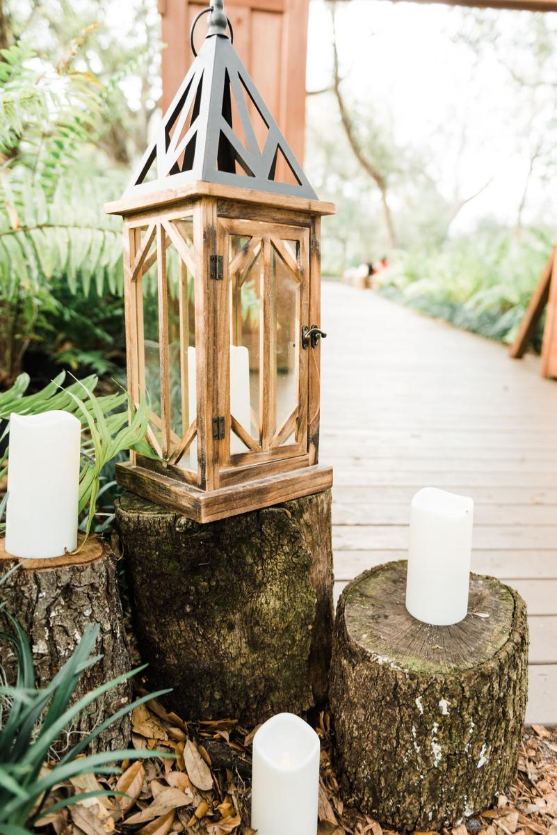 Enchanting boho-inspired wedding ceremony decor