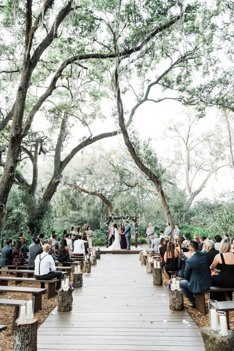 Enchating forest-inspired wedding ceremony