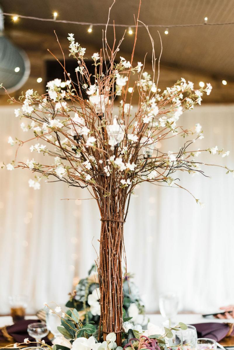 Enchanting boho-inspired wedding centerpiece