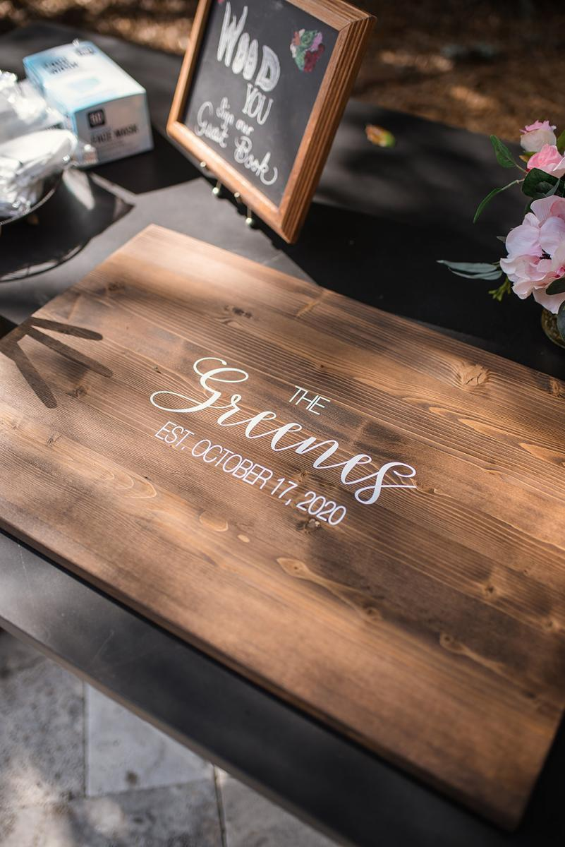 Wooden guest book ideas