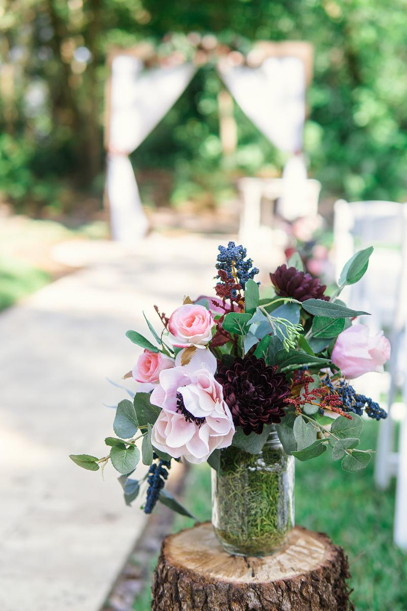 Rustic elegant wedding decoration
