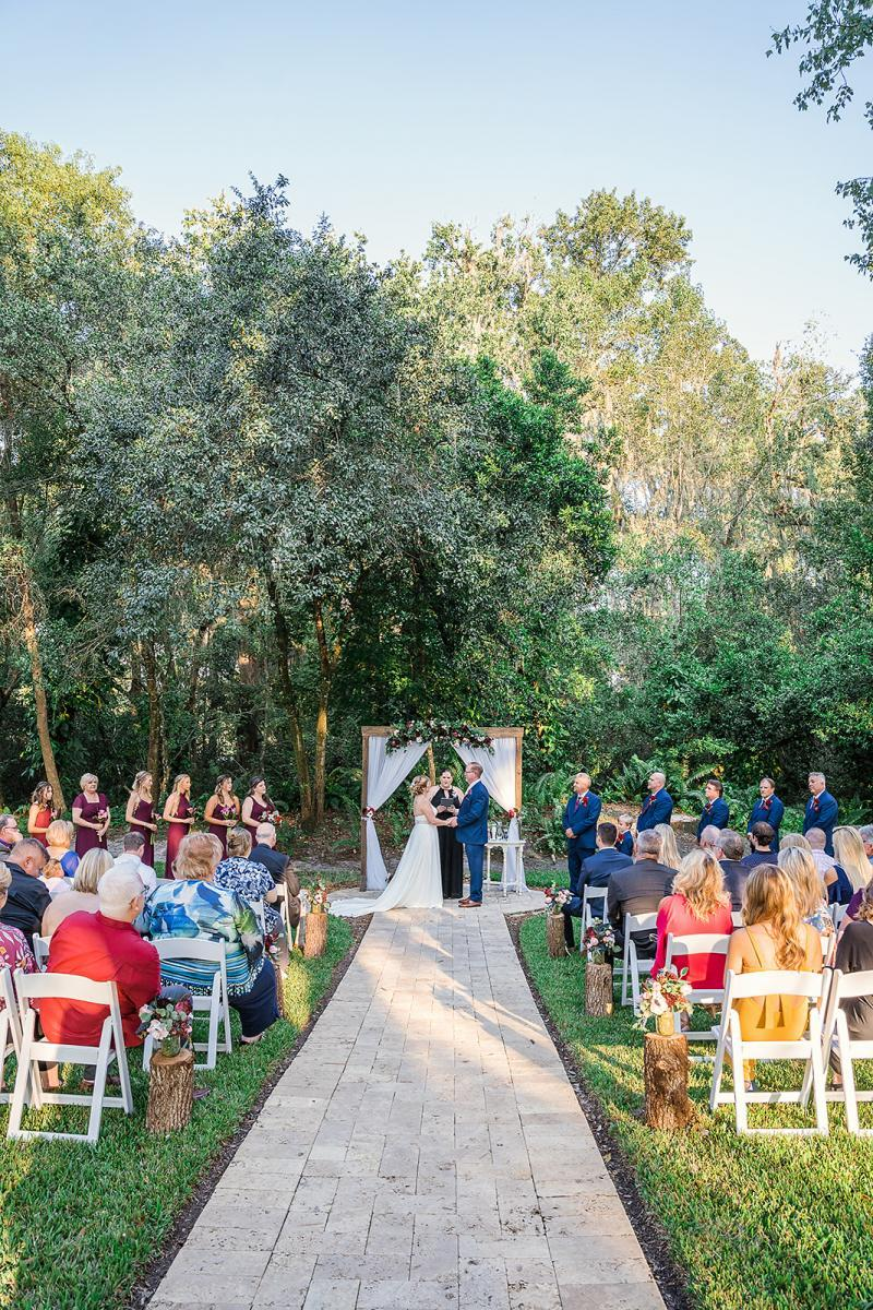 Intimate wedding venue in a garden setting