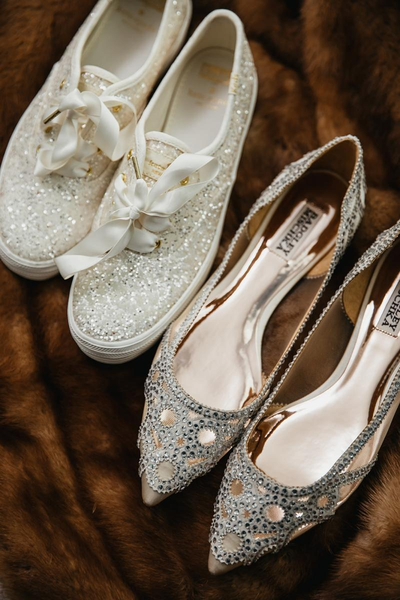 sparkly glam wedding shoes