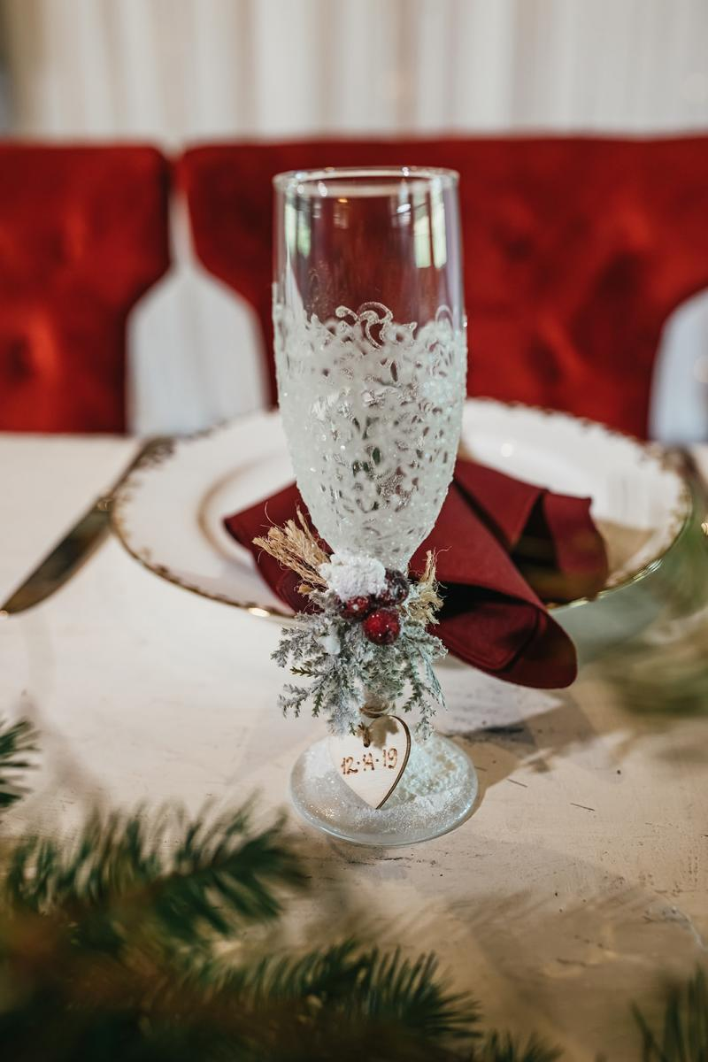 Christmas inspired toasting glasses