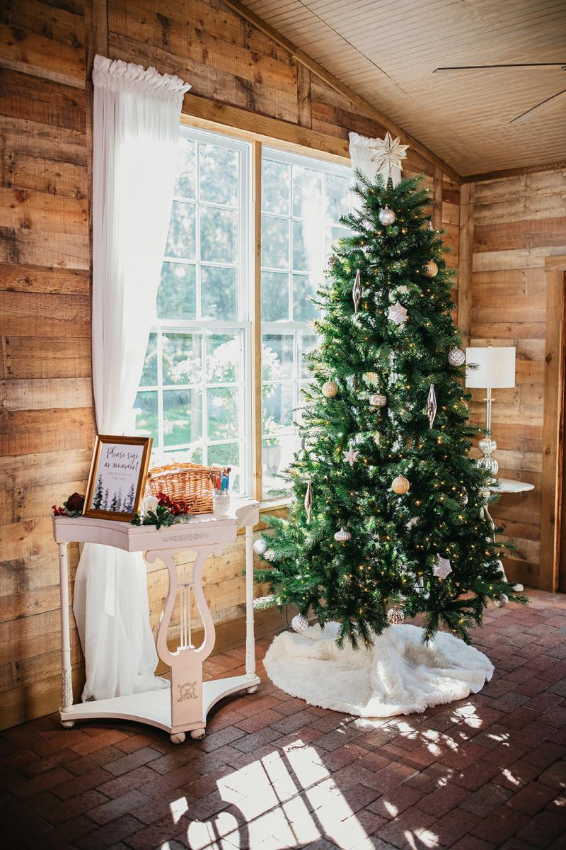 Christmas inspired wedding decor