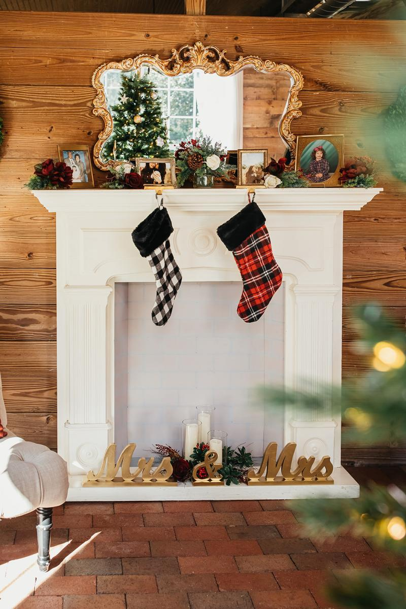 Holiday inspired wedding decor