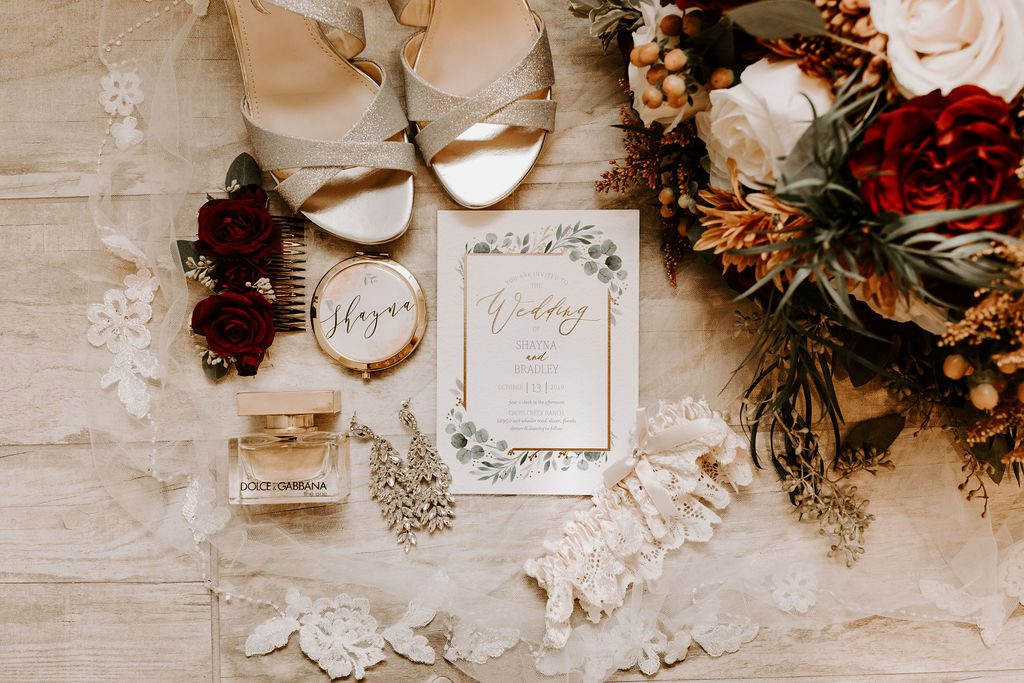 Wedding invitations and details