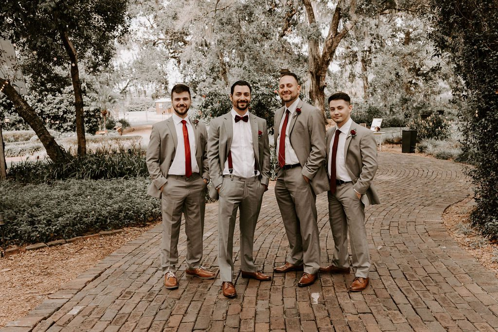 Bradley and his groomsmen