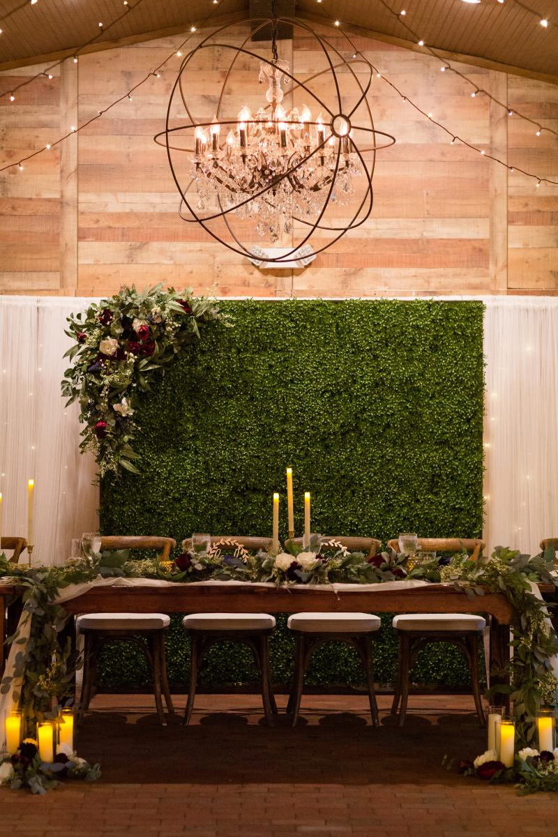 garden rustic sweetheart table