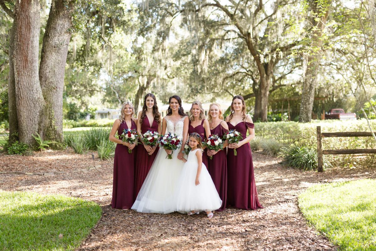 Brandi and her bridesmaids