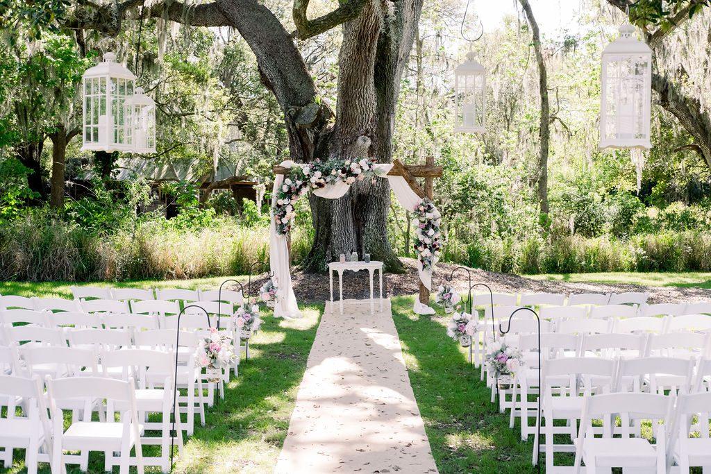 Ultra romantic wedding ceremony