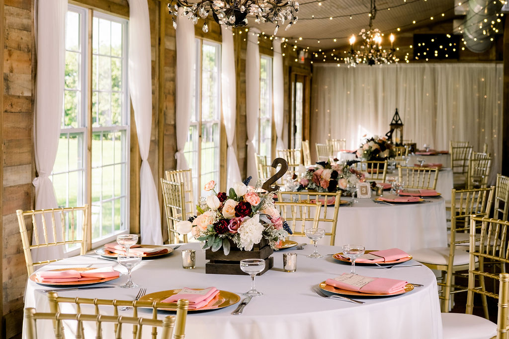 Ultra romantic wedding guest tables