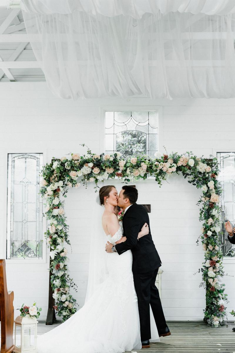 Ashley and Jonathan's elegant chapel wedding
