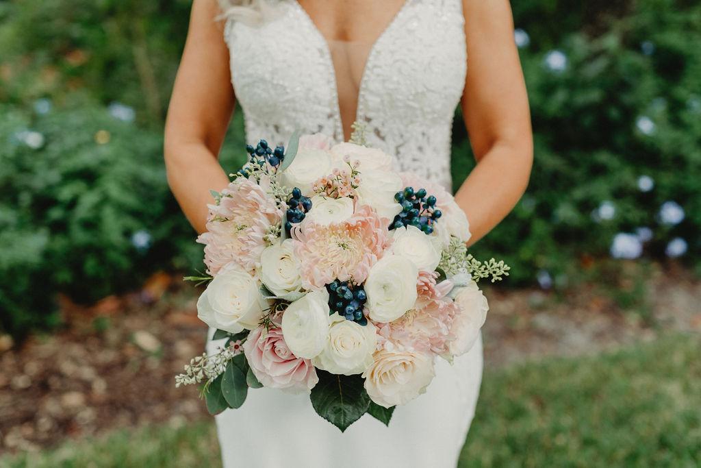 Elegant bridal bouquet by Alta Fleura