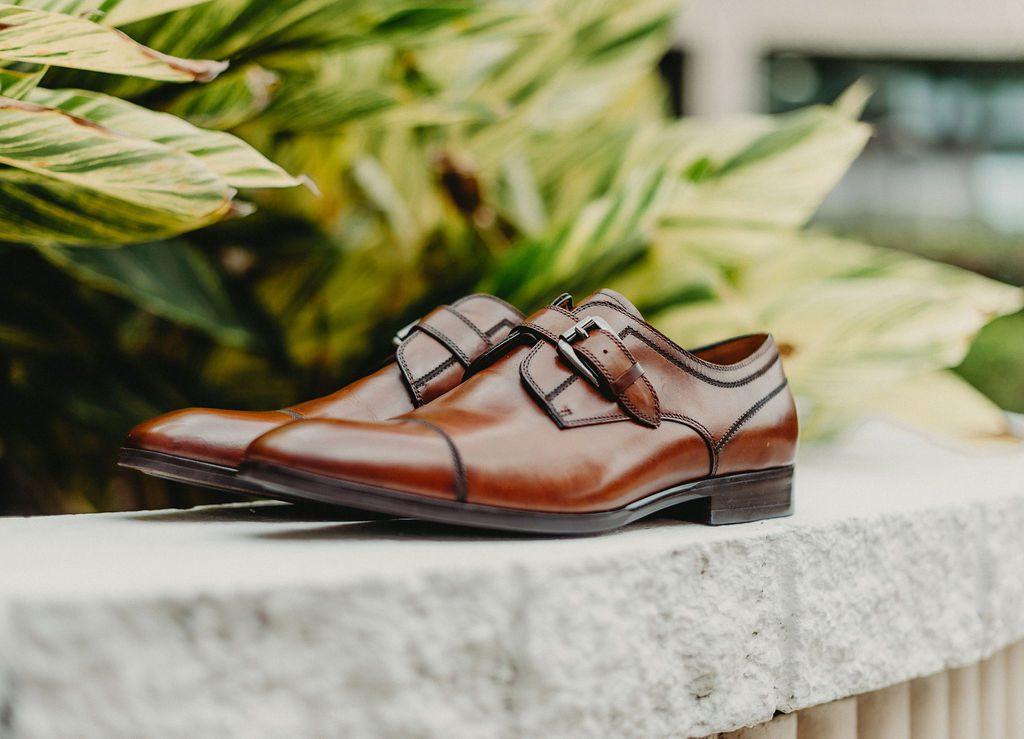 Anthony's wedding shoes