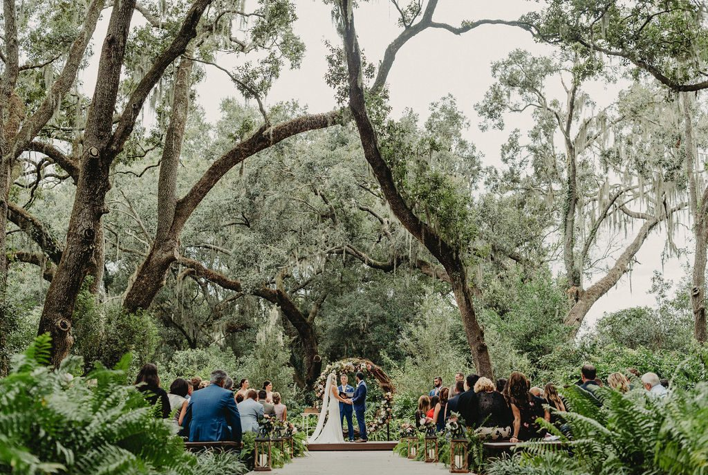 A traditional and elegant wedding ceremony at the Enchanted Forest