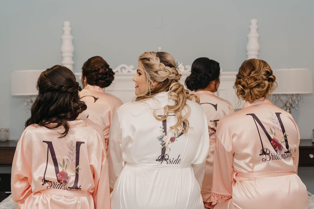 Matching personalized bridesmaid robes