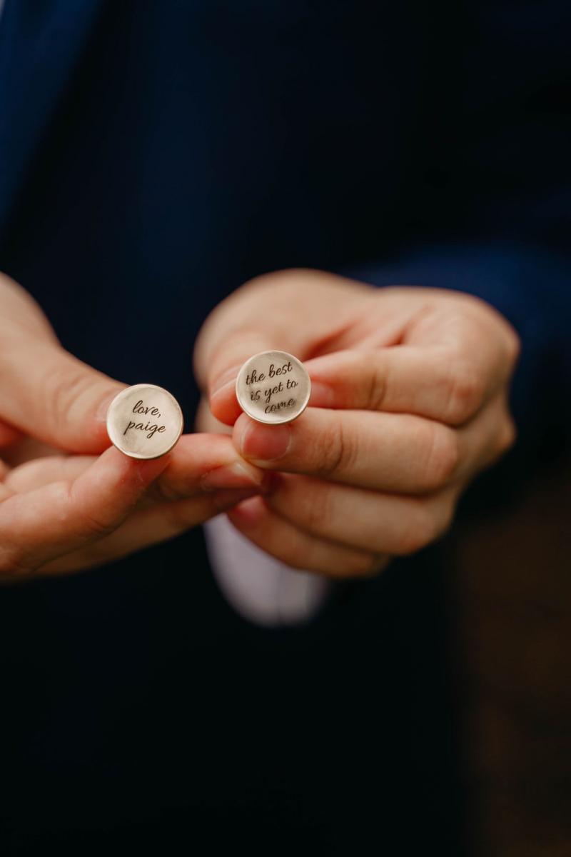 Personalized wedding cufflinks