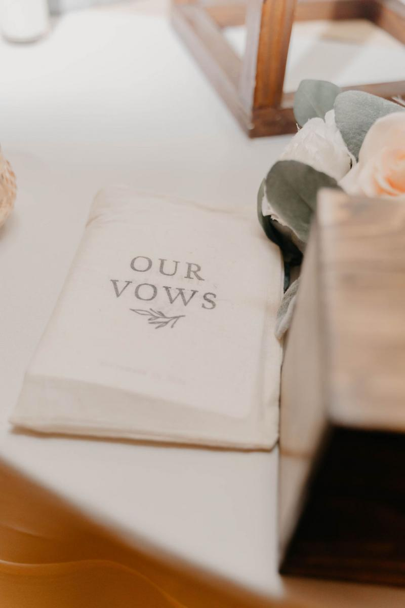 Personalized wedding vow books