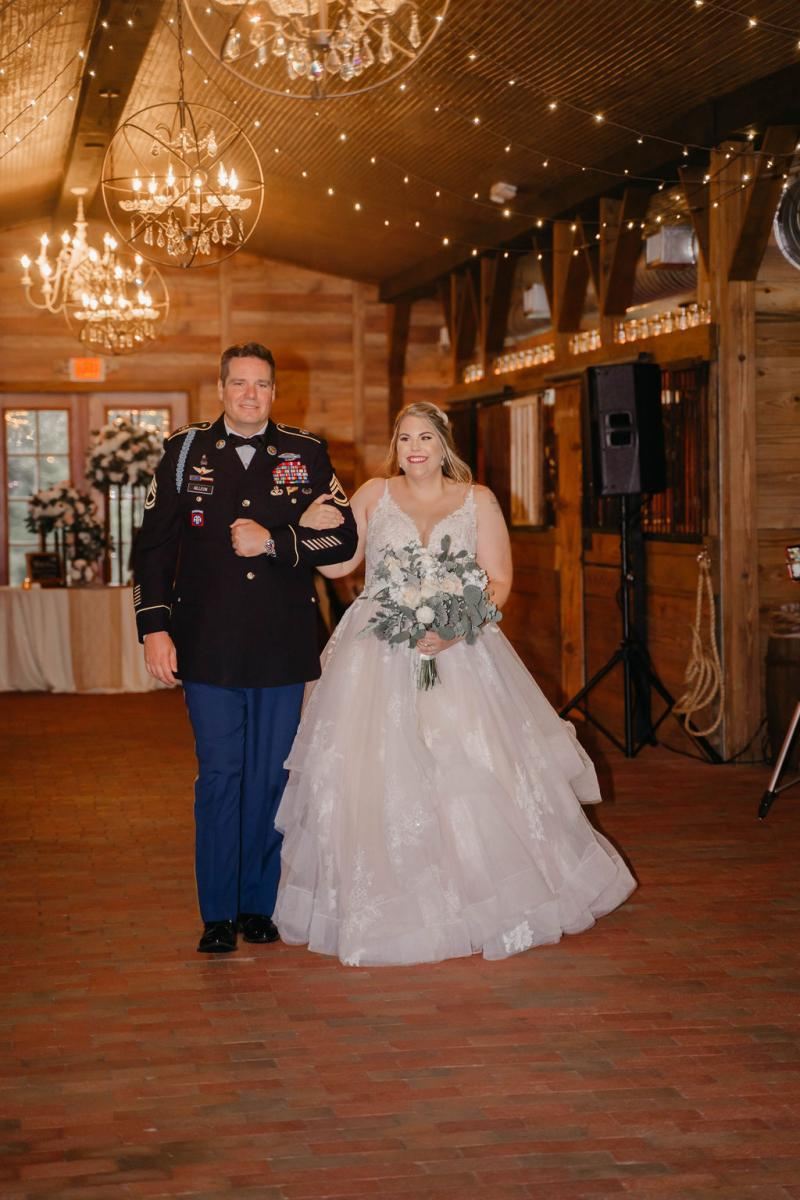 Wedding ceremony inside the Carriage House Stable