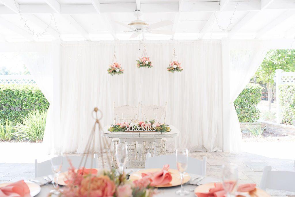 Kathleen and Stephen's wedding sweetheart table