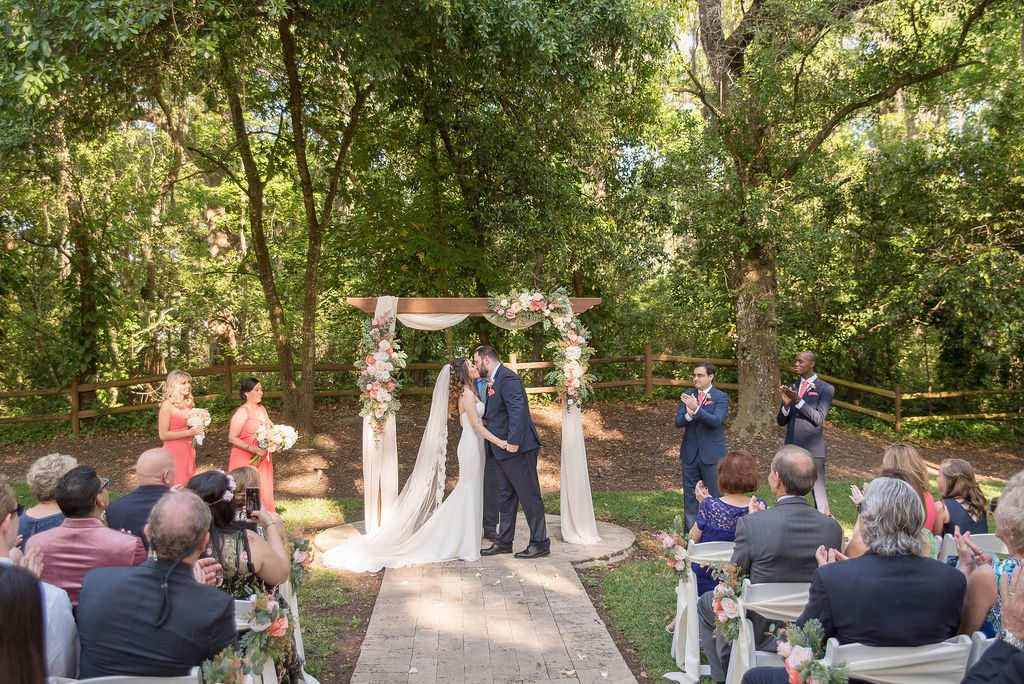 Kathleen and Stephen's pretty in pink wedding ceremony