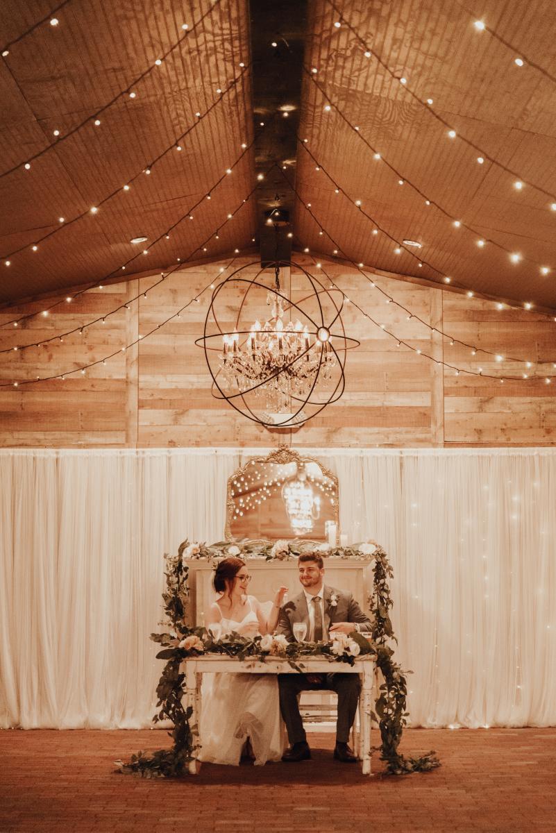 Elegant boho sweetheart table
