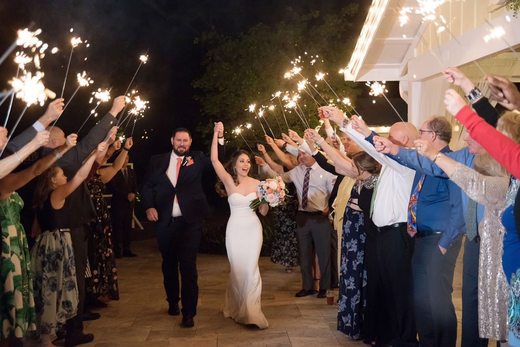 Kathleen and Stephen's sparkler exit