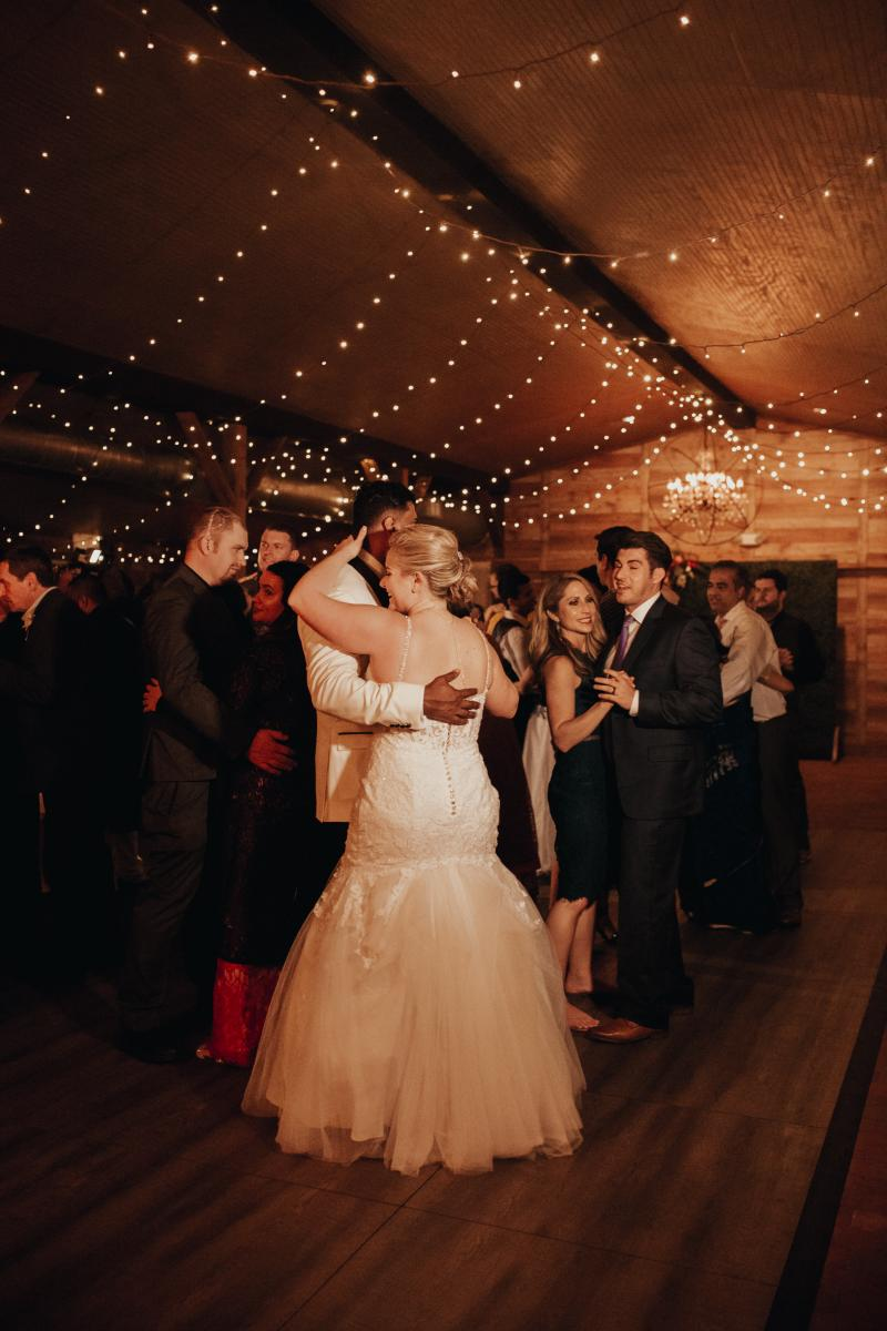 Sadie and Kiran dancing the night away