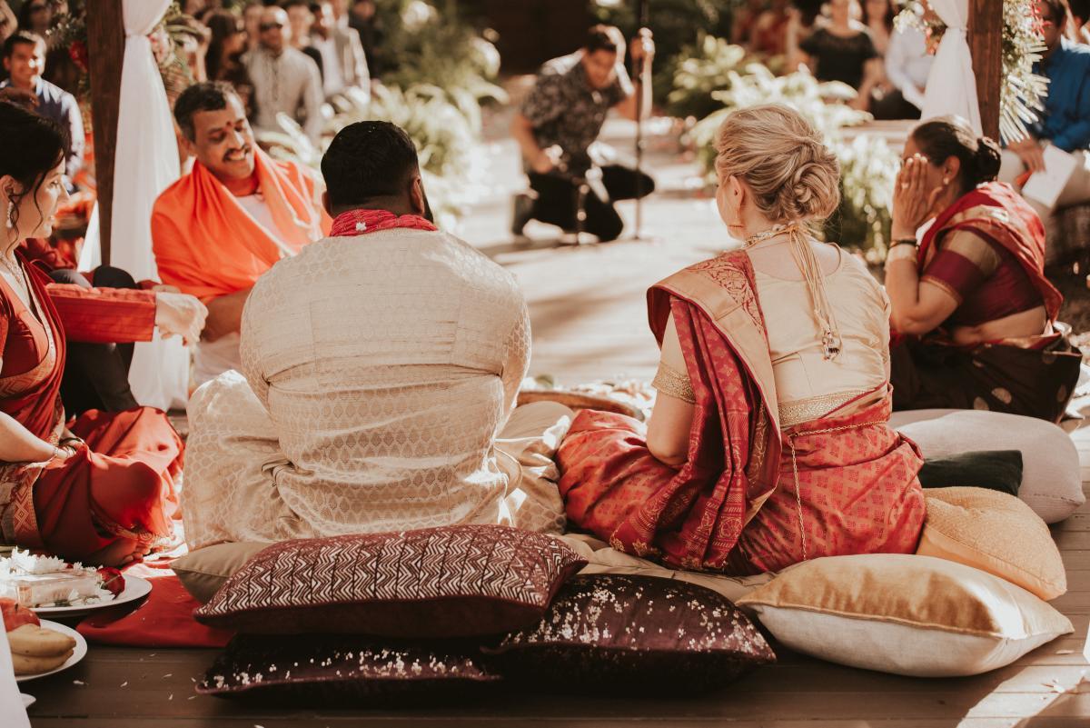 Sadie and Kiran during their Hindu ceremony