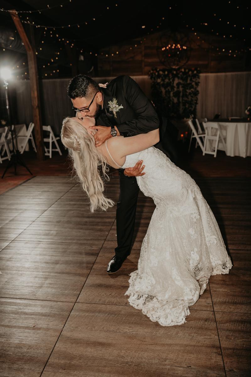Bride and groom dance floor pictures