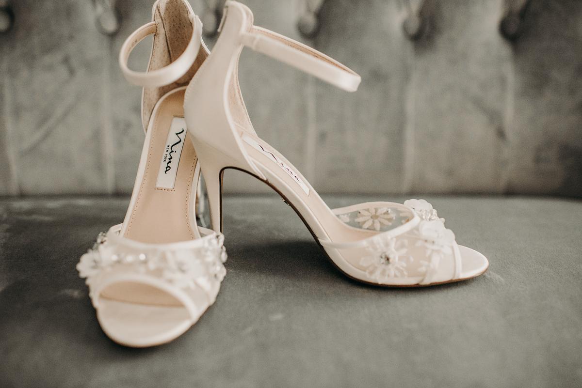 Linea's wedding shoes